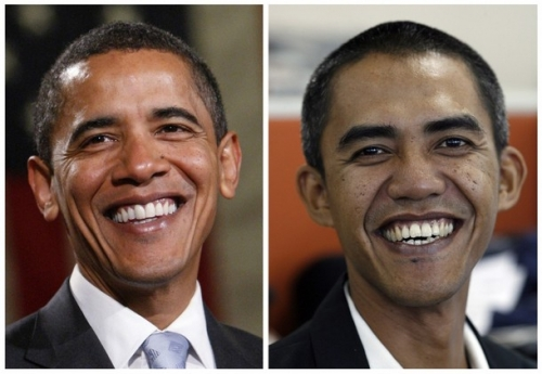 Indonesian Fisherman Samuel Farhid (right) admits he was employed by US govt to play Barack Obama.