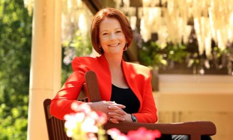 Australian Prime Minister Julia Gillard at home, Canberra, Australia - 23 Oct 2011
