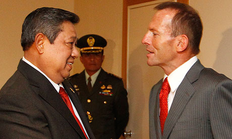 Indonesia's President Yudhoyono meets with Australia's opposition leader Abbott in Canberra
