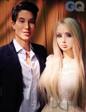 Human Barbie meets Human Ken