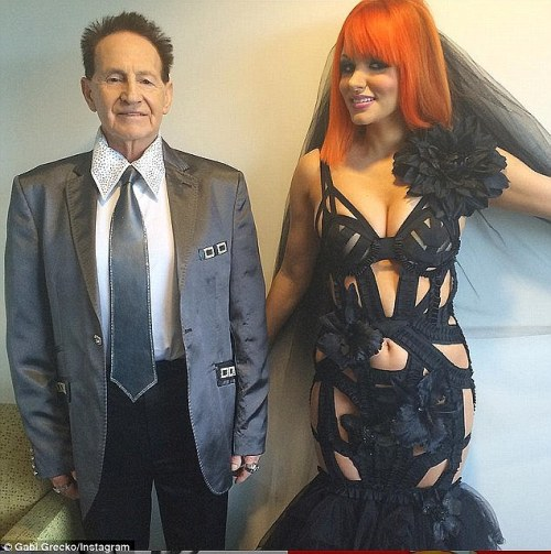 Splitsville? Gabi Grecko insists she and husband Geoffrey Edelsten are filing for divorce after four months of marriage. She claims he is in love with his secretary and has chosen her over their marriage